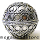 30mm Large Focal Bali Sterling Silver Beads  (B157)