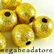 B181V Vermeil Stardust Beads   8mm   10 pcs/pk