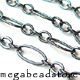 Dark Oxidized Sterling Silver Loose Chain   4 x2mm   10 ft