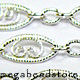 Sterling Silver Loose Pattern Chain    7x4mm   Per foot