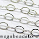 Sterling Silver Loose Flat Oval Chain    3x2mm   Per foot