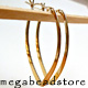 Large Gold Filled Drop Hoop Earwire   48mm   2 pcs