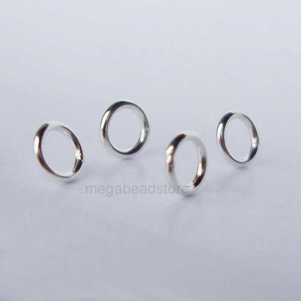 4mm sterling silver jump rings closed soldered 22