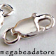 8mm  Lobster Sterling Silver Clasp w/ ring- 5 pcs