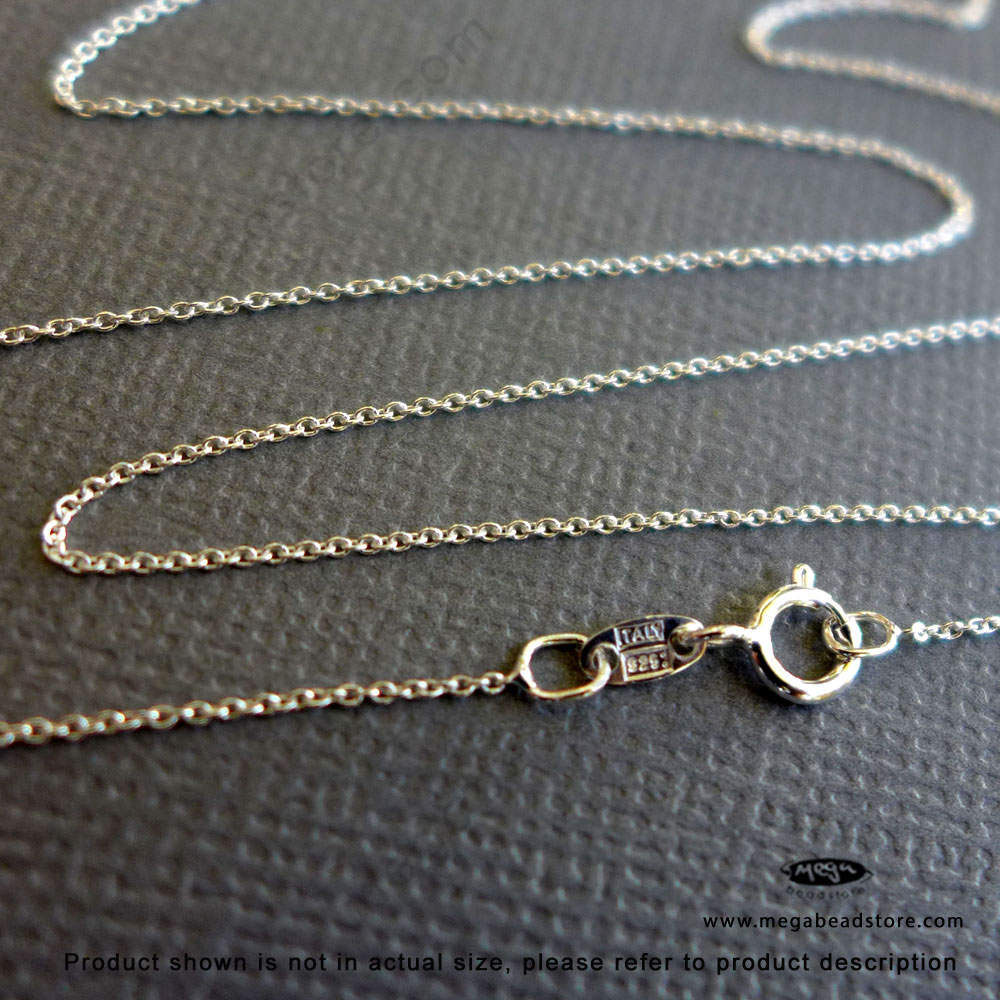 cd84acea0a0f1 0.5mm Very Fine Sterling Silver Cable Chain Necklace - 18
