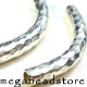 KB6 Karen Thai Silver Curved Beads   48mm x 6mm   1pc