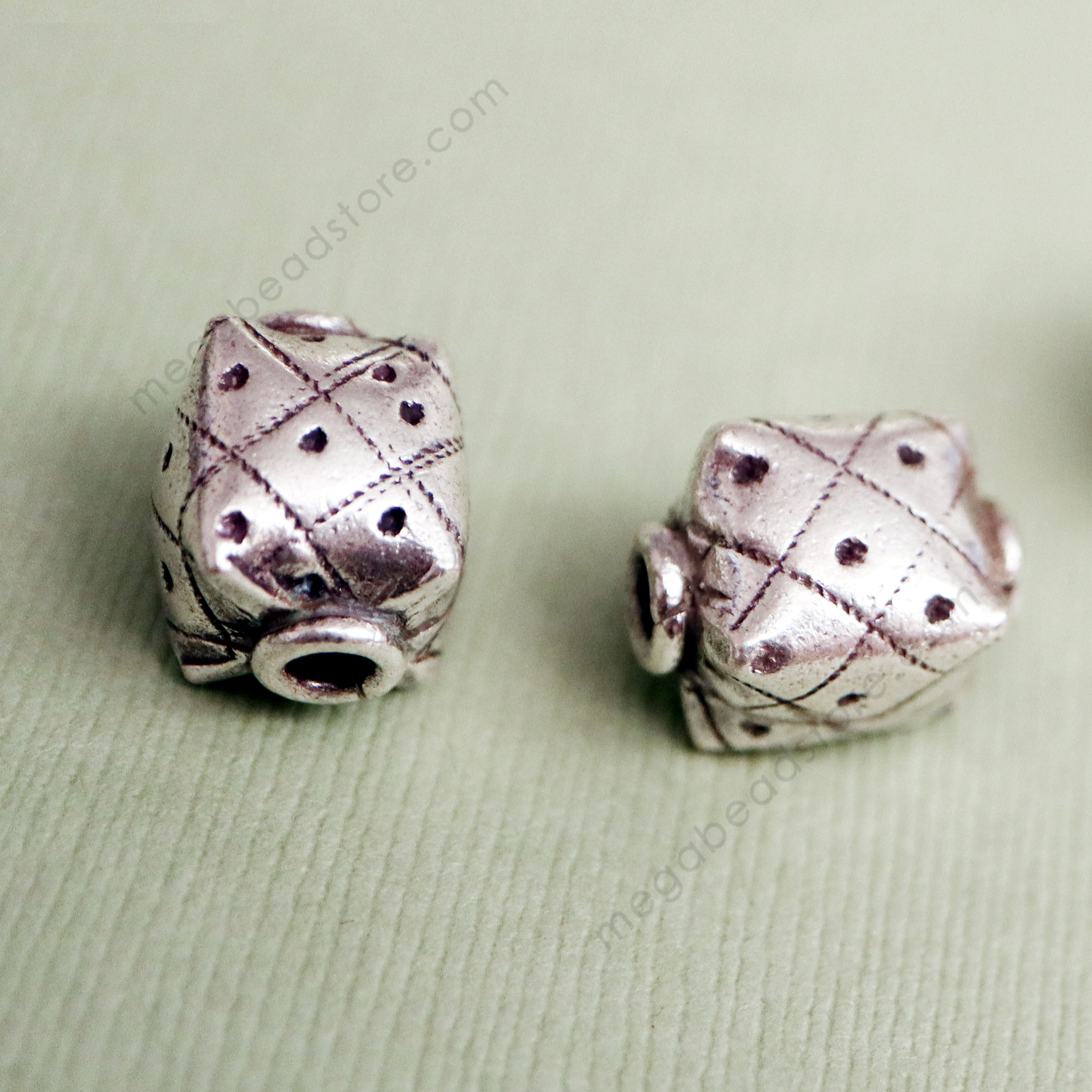 KB9 Karen Thai Silver Beads   14mm