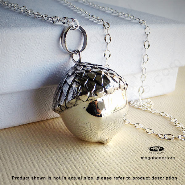 22mm large acorn chime harmony ball sterling silver pendant p69l tap to expand aloadofball Image collections