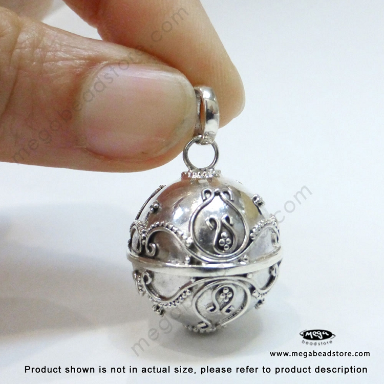 18mm harmony ball bali sterling silver pendant p85 store search aloadofball Images