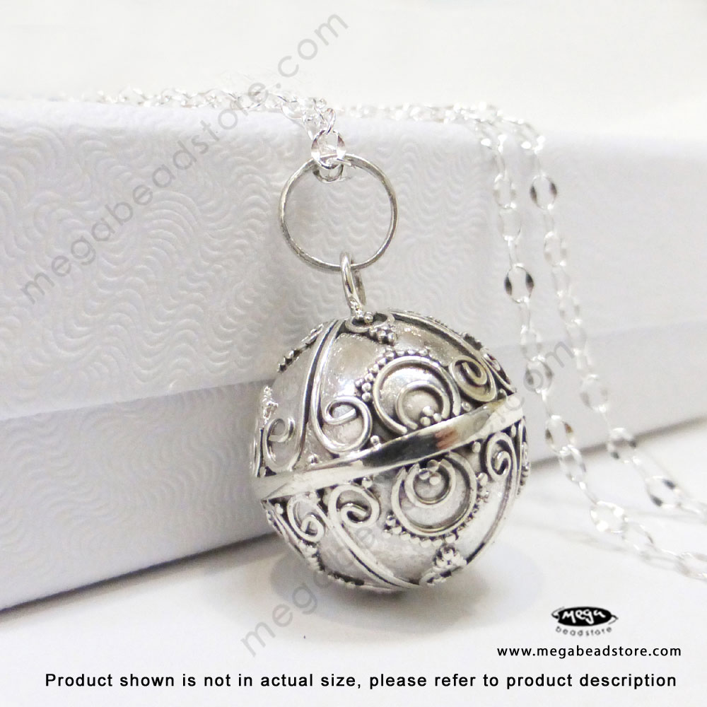 16mm harmony ball bali sterling silver pendant p86 16mm harmony ball bali sterling silver pendant p86 tap to expand aloadofball Images
