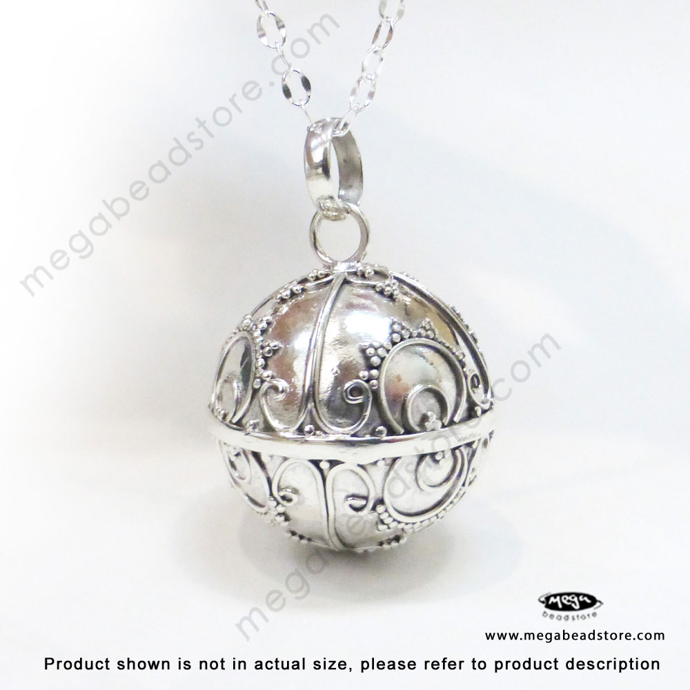 20mm large harmony ball bali sterling silver pendant p86 store search aloadofball Images