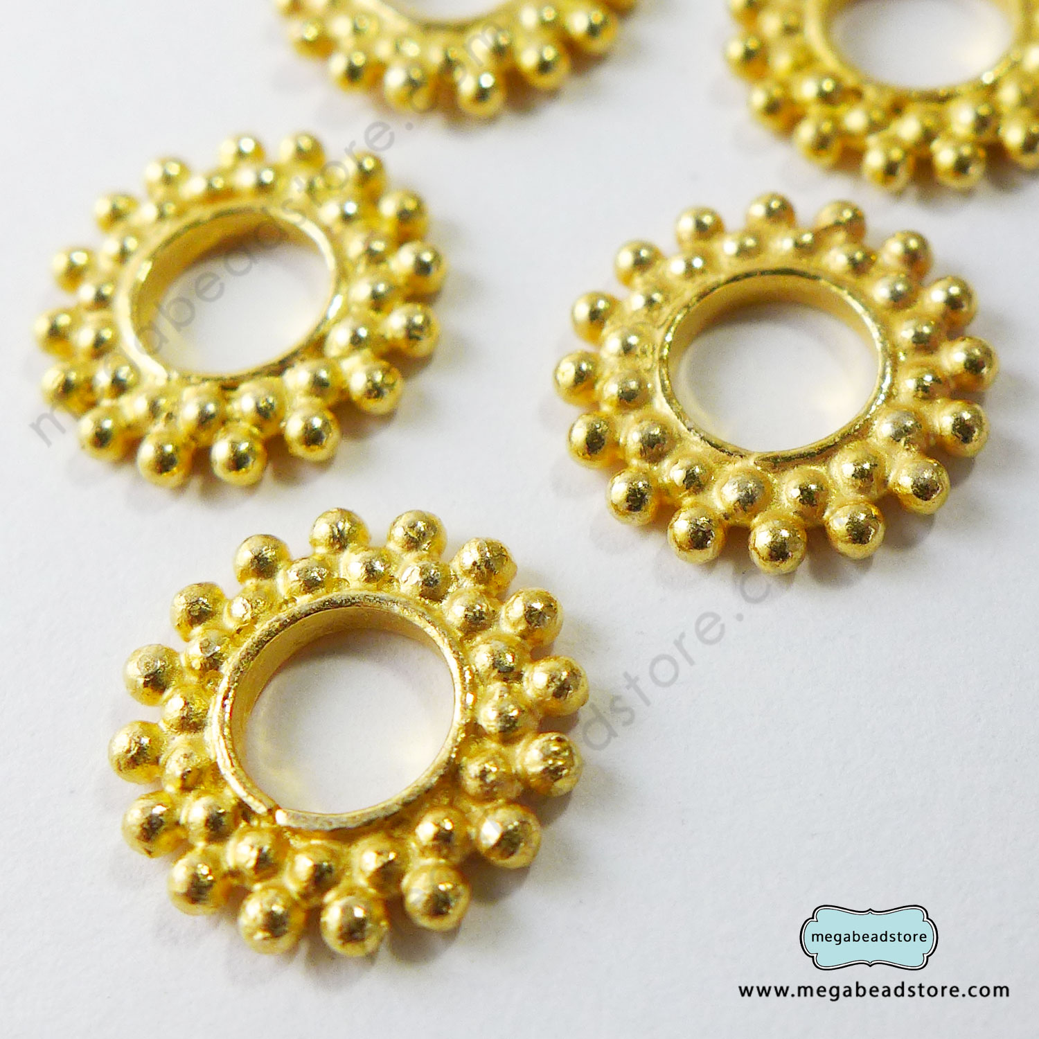 12mm Vermeil Spacers   12mm x 1.5mm   1 pc