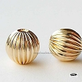7mm Corrugated Gold Filled Beads   1 pc