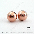8mm Rose Gold Filled Seamless Beads (B39RGF)  1 pc