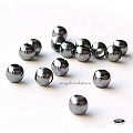 3mm Oxidized Sterling Silver Beads  Seamless  50 pcs
