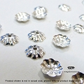 5mm Tiny Flower Bead Caps Sterling Silver (C95) - 50 pcs