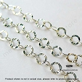 Sterling Silver Textured Chain   3.5mm   Per foot