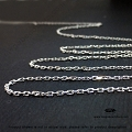 1.85mm Diamond Cut Cable Sterling Silver Loose Chain -  10 ft