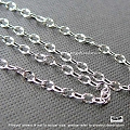 2.5mm Dapped Oval Sterling Silver Loose Chain  1 ft