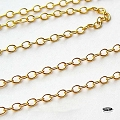 2mm x 1.6mm Gold Filled Loose Chain   Per foot
