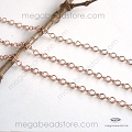 2mm x 1.6mm Rose Gold Filled Loose Chain   Per foot