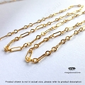 3+1 Flatten Long Short Loose Chain 14K Gold Filled- Per foot