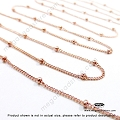 14/20 Rose (Pink) Gold Filled 1.9mm Bead Satellite Chain  (CH79)