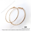 25mm Sparkle 14K Rose (Pink) Gold Filled Beading Hoop Earwires (F115RGF)- 2 pcs