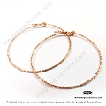 30mm Sparkle 14K Rose (Pink) Gold Filled Beading Hoop Earwires (F115RGF)- 2 pcs