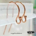 Ball End Rose Gold Filled Earwires (F120RGF)  21 Gauge   10 pcs