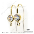 4mm CZ Bezel Gold Filled French Ear Wire (F136GF) -2 pcs