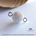 8mm Stardust Ball Magnetic Clasp Sterling Silver  (F284)