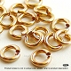 4mm 19 Gauge Gold Filled Jump Rings Open   25 pcs