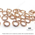 5.8mm 18 Gauge 14K Rose (Pink) Gold Filled Jump Rings Open- 25 pcs