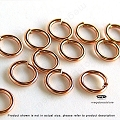 5mm 20 Gauge Rose Gold Filled Jump Rings Open   50 pcs