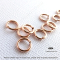8mm 16 Gauge 14k Rose Gold Filled Jump Rings Open - 10 pcc