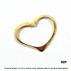Gold Filled Heart Charm 19mm x 12mm  1 pc