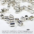 2mm Sterling Silver Crimp Tube (F32)- 100 pcs