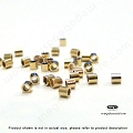 1mm Gold Filled Micro Crimp Tube Beads (F32GFs)  200 pcs