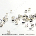 1mm Sterling Silver Micro Crimp Tube Beads (F32) - 500 pcs