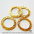 15mm Vermeil Hammered Flat Rings  1 pc