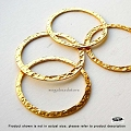 30mm Vermeil Hammered Flat Rings  1 pc