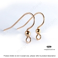 3mm Bead Gold Filled Earwires (F380GF)  10 pcs