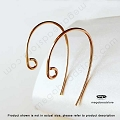 20 Gauge Rose Gold Filled Bass Clef Earwires  10 pcs