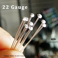22 Guage Sterling Silver Flat Head Pins 2
