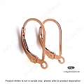 Plain14K Rose Gold Filled  Leverback (F424RGF)  1 pair