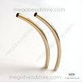 2mm x 35mm Curved Elbow Tube Gold Filled Bead  (F425GF)  1 pc