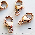 9mm Rose Gold Filled Oval Trigger Clasp (F426RGF)  1 pc