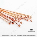 24 Gauge Rose Gold Filled Flat Head Pins 2