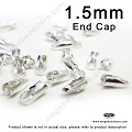 1.5mm Sterling Silver Leather End Cap (F431) - 40 pcs